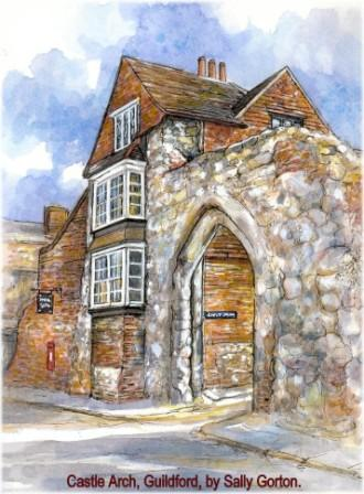 Castle Arch, Guildford, by Sally Gorton
